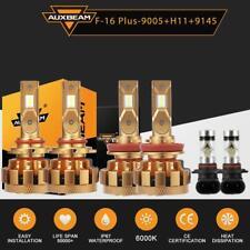 AUXBEAM H11+9005+9145 LED Headlight+Fog Light for Dodge Ram 1500 2500 3500 09-18