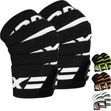 RDX Knee Wraps Weight Lifting Straps Guard Pads Sleeves Bandage Powerlifting Gym