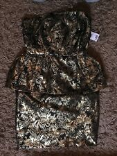 Be Beau Ladies Womens Sleeveless Floral Pattern Dress (Black) UK Size 10 - BNWT