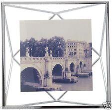 Prima Marco de fotos plateado y con cristal para fotos 10x10 o hasta 14x14 salón