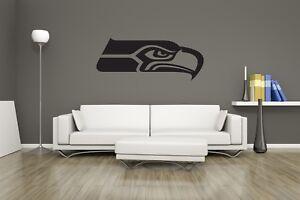 Huge Seattle Seahawks Vinyl Sticker Decal Wall Art  / Man Cave