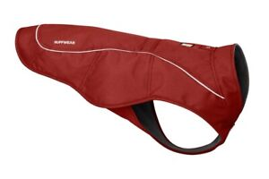 """Ruffwear Overcoat Abrasion Resistant Fleece Lined Jacket Red Clay Small 22-27"""""""