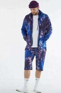 True Religion Purple Haze Tie Dye Hoodie/Shorts Set Sz Large NWT