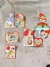 1940's Valentine's Card Lot (6)! Adorable! Polar Bear, Mechanical, Cute! U.S.A