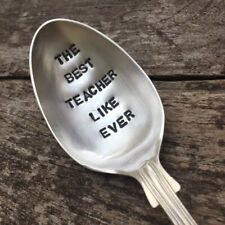 Best Teacher Like Ever Hand Crafted Antique Silver Plated Spoon Gift Best Seller