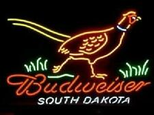 "New ListingSouth Dakota Pheasant Hunter Budweisers Neon Light Sign 24""x20"" Beer Bar Lamp"
