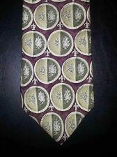 Cambridge Classics Tie Silk Geometric Circles Red Tan Green NIB t2324