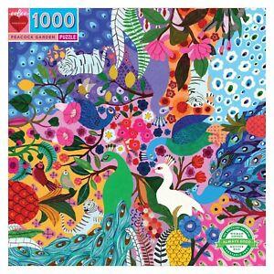 Peacock Garden 1000 Piece Jigsaw Puzzle by eeBoo