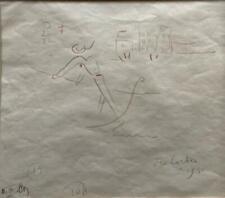 Authentic Jean Cocteau Signed Original Art Venice Gondolier Drawing OCF Savoyeux