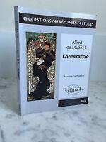 Alfred Musset-Lorenzaccio Martine Lombaerde Ellipses 2012
