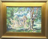 H D Becker Original Oil Painting Sunny Summer New Mexico Landscape Signed Framed
