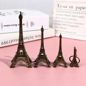 Retro Paris Eiffel Tower Model Home Desk Bronze Metal Statue Figurine DecorY`hw