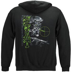 Elite Breed SWAT Special Weapons and Tactics Hoodie Sweatshirt Black