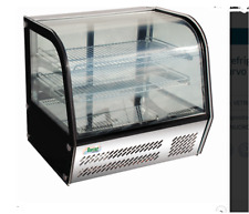 Vetrina refrigerata ventilata inox professionali LUCI LED vetro curvo VPR100