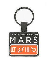 30 SECONDS TO MARS Rubber Keychain Keyring Key Chain Key Ring
