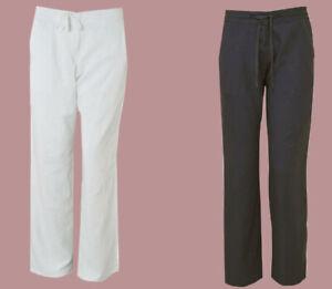 The Next Best Linen Blend Wide Leg Tie Waist Summer Trouser Size 8 - 20