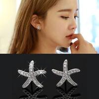 Fashion Round Zircon Ear Stud Earrings Charm Jewelry Women Party Gift JA