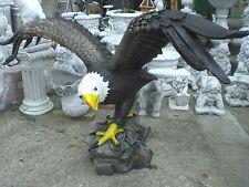Adler XXL 170 cm Weißkopfadler Seeadler Vogel Greifvogel Gartenfigur Tierfigur
