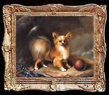 Papillon Dog Miniature Dollhouse Doll House Picture
