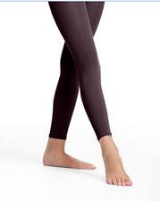 Danskin 712 Girl's S/I (4-7) Black Ultrasoft Microfiber Footless Tights