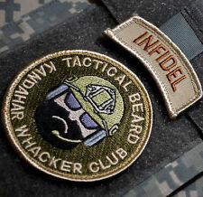 AFSOC TACP JTAC CCT DEATH on CALL velkrö 2-PATCH SET: Tactical Beard + INFIDEL
