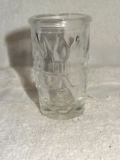 Hot Damn! Clear Glass Shot Glass- Mans Face With Hair Up In Air Like Flames