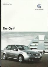 VW VOLKSWAGEN GOLF S, SE, SPORT,GT FSI, GT TDI & GTI SALES BROCHURE 2005