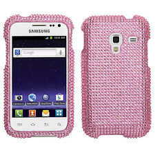 For Samsung Galaxy Admire 4G Crystal Diamond BLING Hard Case Phone Cover Pink