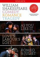 William Shakespeare: Comedy, Romance, Tragedy (DVD, 2010, 4-Disc Set)