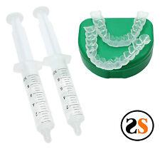 2 Custom Dental Teeth Whitening Trays Gel Reservoirs