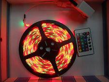STRISCIA DI LED RGB 5050 5M ADESIVA 300 SMD 12V IP65 MULTICOLORE COMPLETA