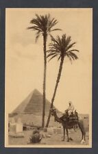 EGYPT 1920's PYRAMID TOMB OF KING CHEPHREN ORIENTAL COMMERCIAL BUREAU POSTCARD