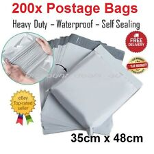 200x Large Postage Satchel Bag Mail Courier Packaging Bags Poly Plastic 35x48cm