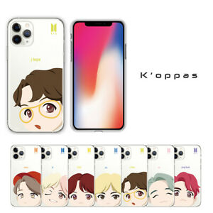 Official K-pop BTS  Motion Face Clear Soft Jelly Phone Case Cover + Free Gift
