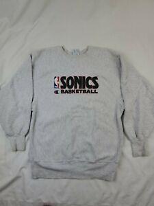 Vtg Seattle Sonics  NBA Basketball XL Sweatshirt Champion reverse weave