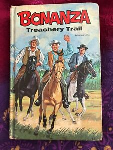 Very Rare BONANZA Treachery Trail TV VINTAGE  HARDCOVER 1968 ILLUSTATED