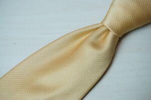 Canali 1934 Bright Sunflower Yellow Ivory White Pindot Woven 100% Silk Tie