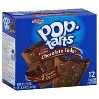 Kellogg's Pop Tarts Frosted Chocolate Fudge Toaster Pastries 22 oz Box