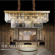 Continental Iron rectangular creative personality restaurant crystal chandelier