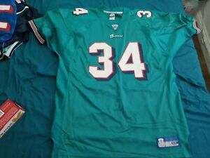 Reebok Authentic Miami Dolphins Ricky Williams jersey 54 XXL 2XL RARE 90s 2000s