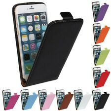 Luxury Genuine Real Leather Flip Case Cover for iphone 4/4s/5/5s/5c/6/6s/7/8/SE