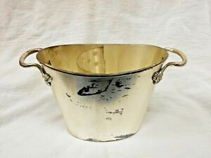 Pottery Barn Wine Champagne Bucket Cooler With Divider