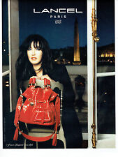 Publicité Advertising 078  2008   sac French Légéreté Lancel Isabelle Adjani