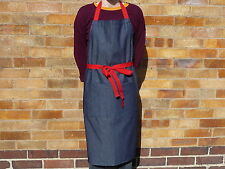 12  Denim Bib Apron with Red Tapes with FREE delivery