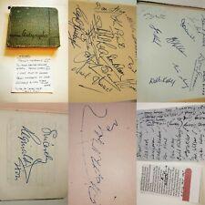 1950's Autograph Book Album Sports Stars football cricket players Original