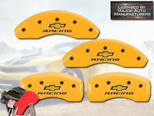 "2016-2018 ""Chevy"" Volt Front + Rear Yellow MGP Brake Disc Caliper Cover ""Racing"""