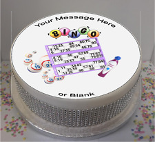 "Novelty Personalised Bingo 8"" Edible Icing Cake Topper birthday"