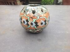 Original GERBINO VALLAURIS French Art Ceramic MOSAIC Bulb Vase