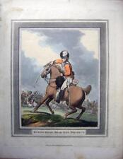 ETCHINGS NAPOLEONIC CAVALRY SWORD DRILLS ROWLANDSON HORSES HEAD LEFT SIDE 1799