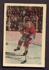 1952-53 Parkurhurst # 10 Dickie Moore RC ROOKIE MONTREAL CANADIENS CREASE FREE